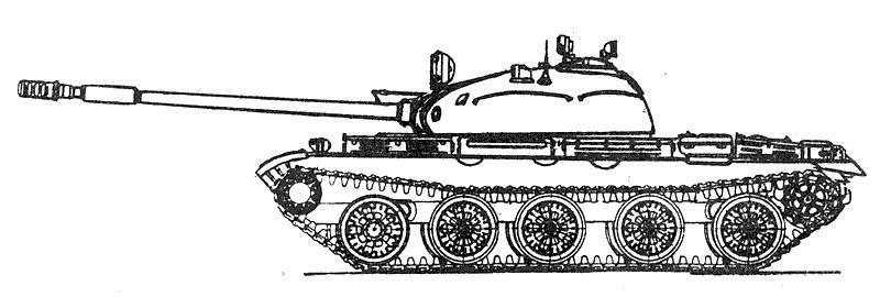 Бронирование танка Т-62а