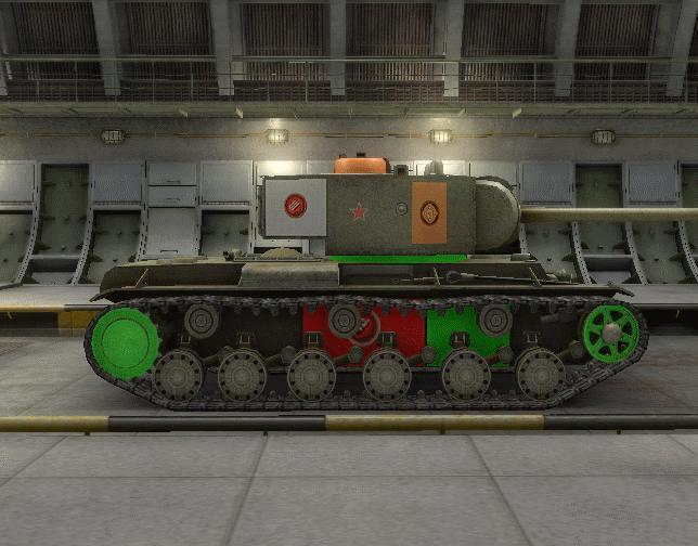 Уязвимые места танка с правого борта
