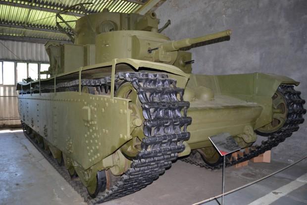 Фото Т-35 в Бронетанковом музее в Кубинке
