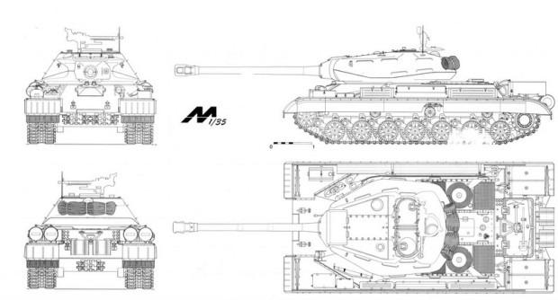 ИС - 4 схема танка