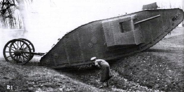Первый в мире танк - Марк 1 фото