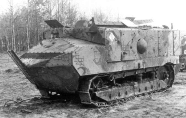 Первый французский танк Шнейдер фото