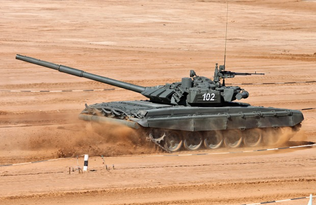 Т-72 на танковом биатлоне фото